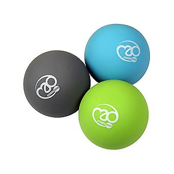 Fitness Mad Massage Ball Set- Blue, Black, Green