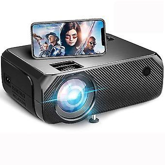 Drahtloser Projektor Native 720P 6000Lumen Tragbarer Projektor für Outdoor-Filme, HD-Filmbeamer, Drahtlose Spiegelung