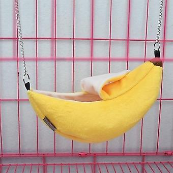 Animals Design Pet Banana Hamster Rat Riippumatto Häkki (keltainen 20cm X 6.5cm)