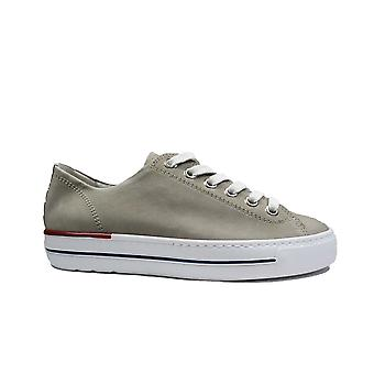 Paul Green 4704-49 Grey Nubuck Leather Womens Lace Up Casual Trainers