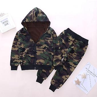 Winter Warm Clothing, Military Hooded Coat + Pants Clothes Suits