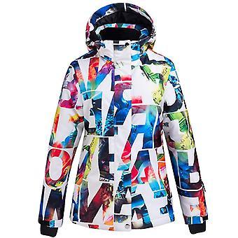 Traje de esquí para mujer, pantalones impermeables + conjunto de chaqueta