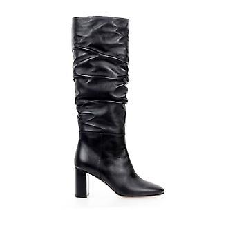 L'autre Chose Black Leather Heeled Boot