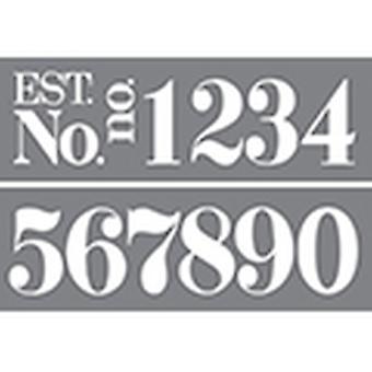 "Decoart Stencil - Klassiska nummer 6""x18"" Stencil"