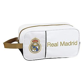 Titular de la zapatilla de viaje Real Madrid C.F. blanco negro poliéster nylon
