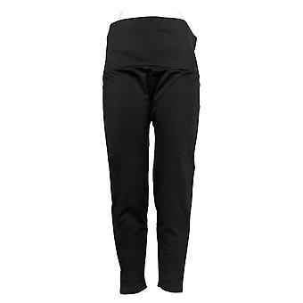 Breezies Leggings Plus Seamless Tummy Smoothing Pull On Black A388306