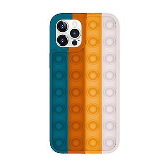 Lewinsky iPhone 8 Plus Pop It Case - Silikon bubbel leksak fall anti stress omslag