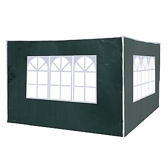 Outsunny 3 Meters Canopy Gazebo Marquee Replacement Exchangeable Side Panel Wall Panels Walls (Green)