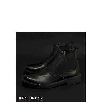 Duca di Morrone - Shoes - Ankle Boots - 100-CRUST-NERO - Men - Schwartz - EU 41