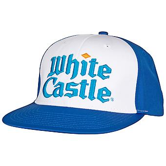 White Castle Text Symbol Adjustable Snapback Hat