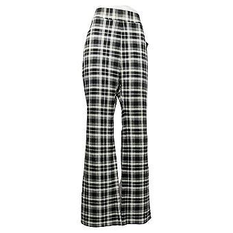 IMAN Global Chic Women's Pants Slim Ponte Boot-Cut White 722609FV5