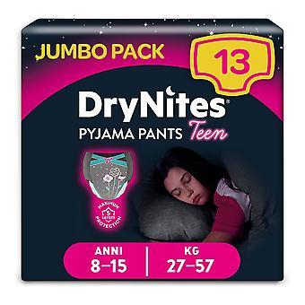 Pack of Girls Knickers DryNites Pyjama Pants Teen (13 uds)