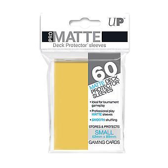Ultra Pro Pro-Matte Amarillo Protectores de Cubierta Pequeña - 60 Mangas