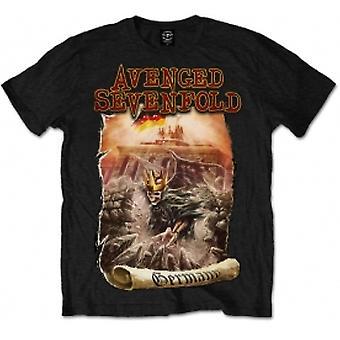 Avenged Sevenfold Germany Mens Black T Shirt: X Large