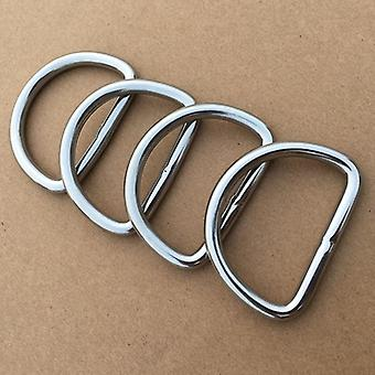20pcs Stainless Steel Seamless D-ring Buckle Bag Belt Leather Strong Hardware