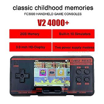 Fc3000 v2 retro handheld video game console built-in 4000+ classic games portable console support 10 formats game av out put