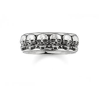 Thomas Sabo Sterling hopea Thomas Sabo Skulls Ring TR1878-001-12