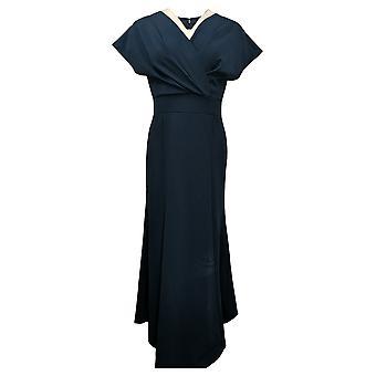 "Antthony Dress ""Metallic Stars"" Surplice V-Neck Maxi Dress Blue 727324"