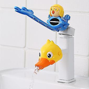 Cartoon Water Tap Extender Baby Hand Washing Faucet Extension Water Pipe Étanche aux éclaboussures (#02)