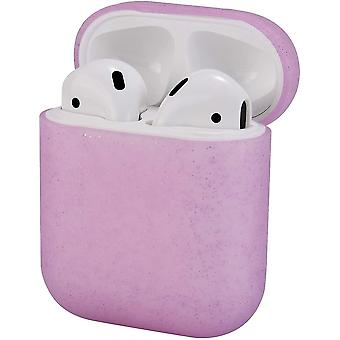 Silicone Cover with Sport Strap for Airpods 2 [Front Led Not Visible](-Clear Pink)(Airpods