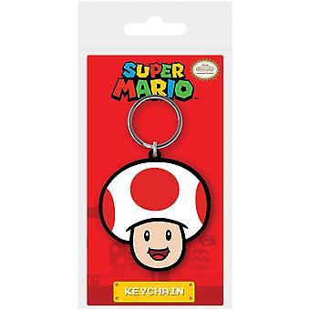 Super Mario Toad Rubber Keyring
