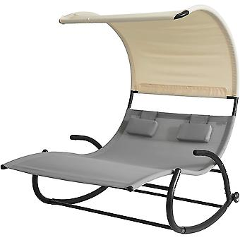 SoBuy OGS50-HG, sun bed mecedora con sombra