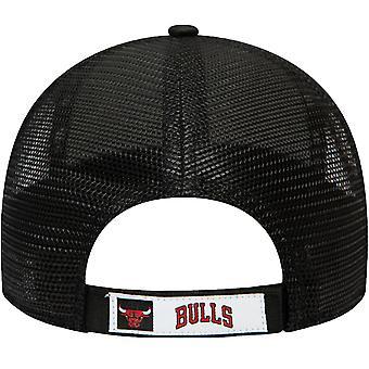 Uusi aikakausi 9FORTY Chicago Bulls NBA Kotikenttä Camo Baseball Trucker Cap - Musta