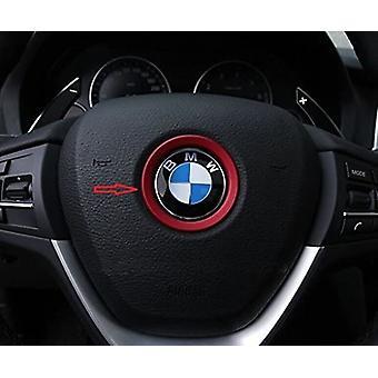 Rødt rat 45mm logo badge emblem aluminium klæbende ring mærkat Decoratin Passer B M W Serie 1 2 3 4 5 6 7 8 X1 X2 X3 X4 X5 X6 Z3 Z4 GT