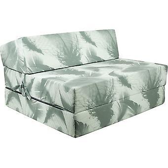 Sammenklappelig madras - Vaskbart betræk - 200 cm x 90 cm x 15 cm - Økologisk