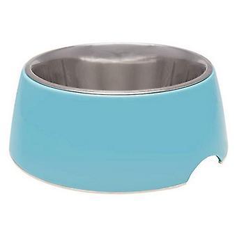 Loving Pets Electric Blue Retro Bowl - 1 count - Medium