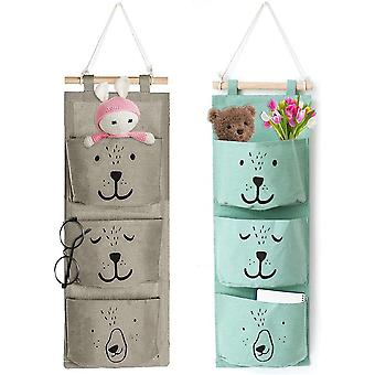 Hanging Storage Bag For Household Items, Storage Bedroom Decoration (2 Pieces)