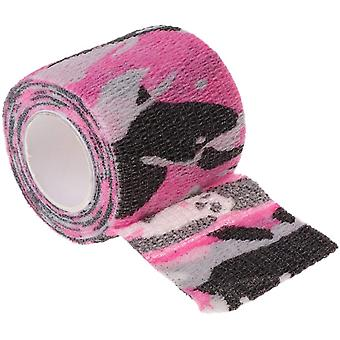 Tattoo Selbstklebende Vlies Elastische Bandage Griff Rosa Camouflage