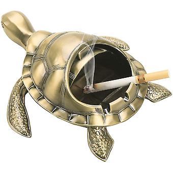 Vintage winddichter Aschenbecher mit Deckel Tragbare Zigarette Geruch Aschenbecher Halter für Raucher Turtle Muster Aschenbecher