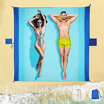Beach Mat Picnic Blanket Waterproof - Sandproof Beach Blanket Extra Large Picnic Mat 210*200cm, Portable Beach Blanket Washable Picnic Blanket For Par