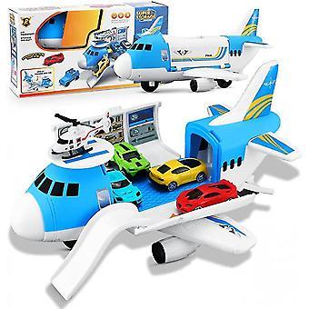 Transport Cargo Avion Voiture Jouet Ensemble, 4 pièces Mini Voiture Voiture Jouet Et 1 Hélicoptère