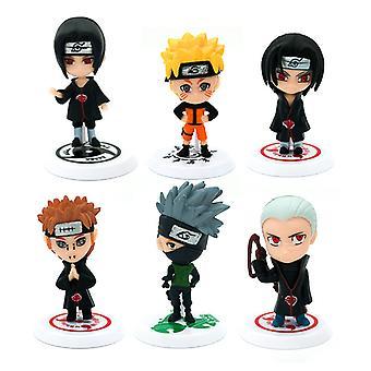 34e generatie 6 Naruto Sasuke Poppen Naruto Handgemaakte I Gaara Model Ornamenten Volledige set van striptentoonstelling