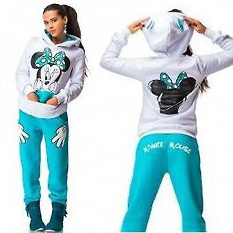 Femei Mickey Minnie Sportswear Hoodie Jogging Pantaloni Set