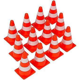 Futbalový tréningový znamienko Road Cone, ľahký a odolný (12 kusov)