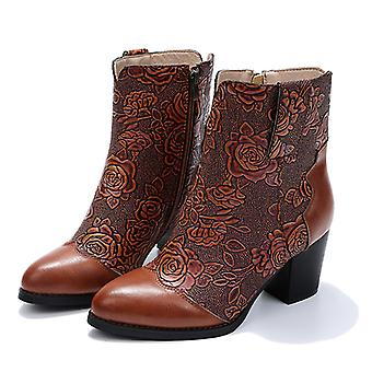 Women High Heel Ankle Boots Fashion Ankle Boots Warm Shoes High Heels