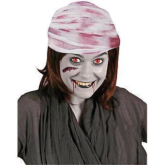 Cabeça atadura bandagem sangrenta Halloween 750 cm sangue Associação chapéu