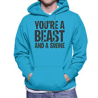 Youre A Beast And A Swine Lord Of The Flies Quote Men's Hooded Sweatshirt
