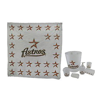 Houston Astros Retro Logo Frosted Finish 7 Piece Bath Set