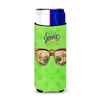 Beach Sunglasses Green Polkadot Michelob Ultra Hugger for slim cans