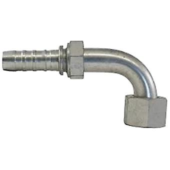 Gates 12GS-12FFORX90S GlobalSpiral Couplings, Female Flat-Face O-Ring Swivel, Zinc Plated Carbon Steel, 5.04