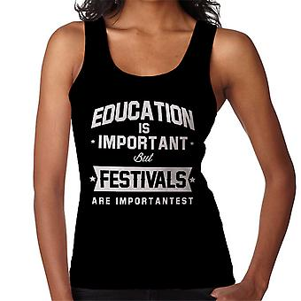 Education Is Important But Festivals Are Importantest Women's Vest