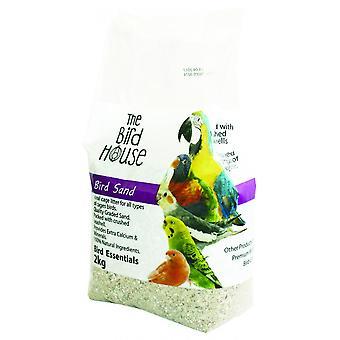 Boldog kisállat madár homok