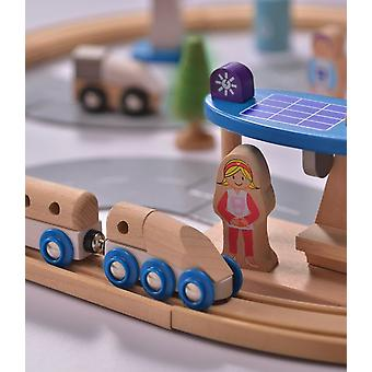 Everearth 50 Piece Eco City Train Set