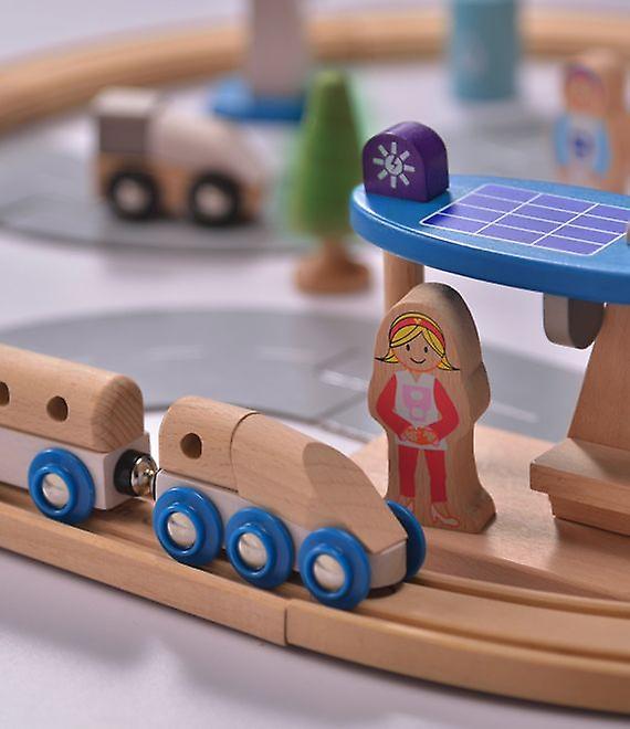 Everearth 50 Piece Eco City Train Set