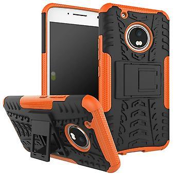 Hybrydowy przypadek 2 kawałek SWL odkryty Orange dla Lenovo Moto G5 plus torba ochrony obudowy