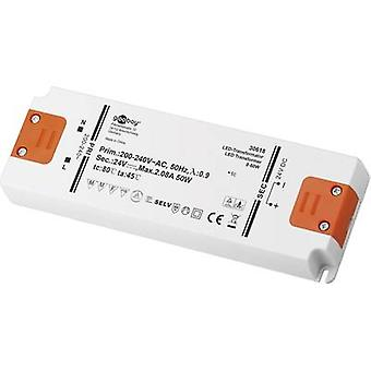 Goobay SET 24-50 LED delgado transformador LED Tensión constante 50 W 2.08 A 24 V DC no regulable, Aprobado para su uso en muebles